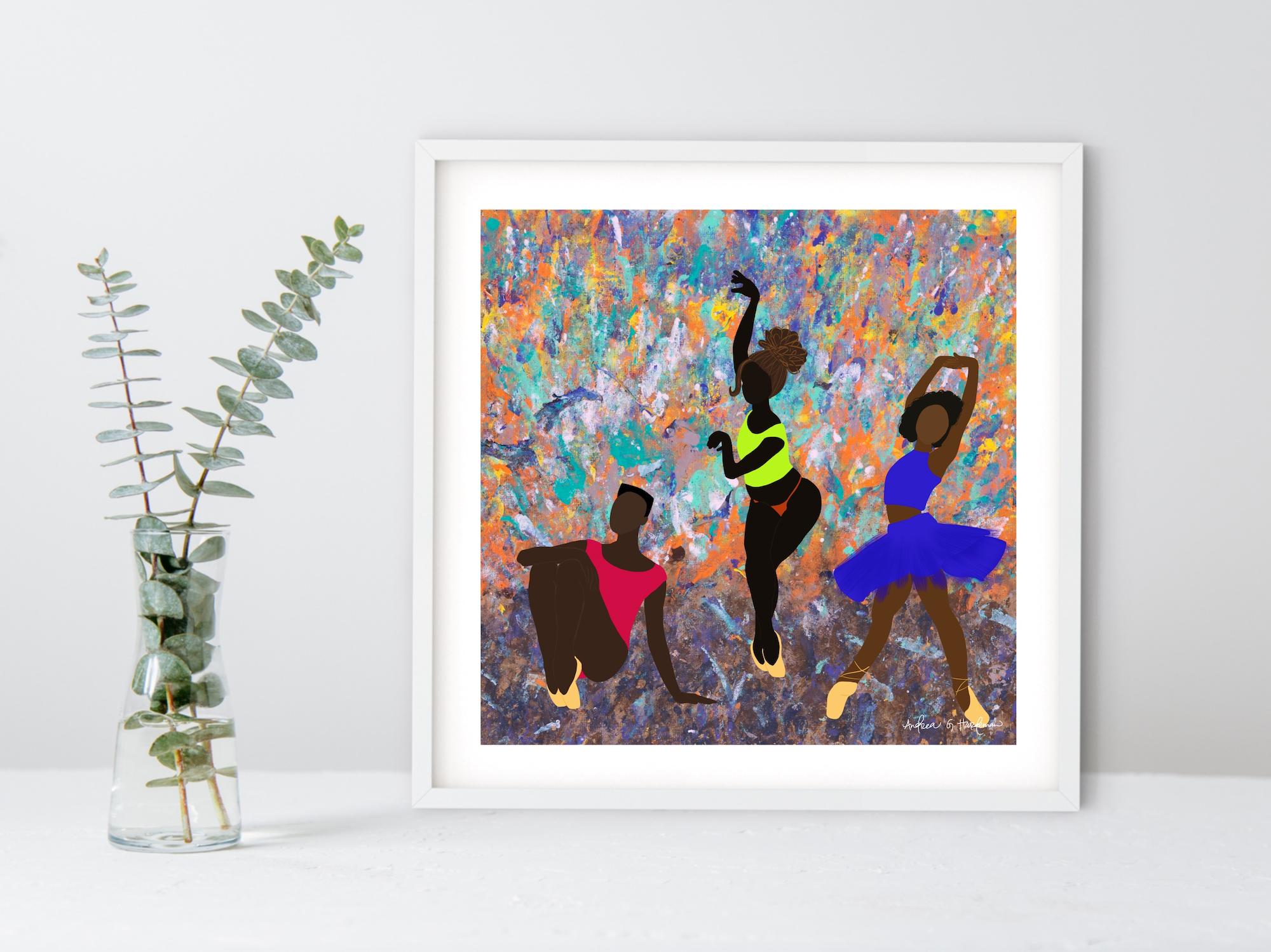 Andrea's art; Les Danseurs Noir 1, 2020.