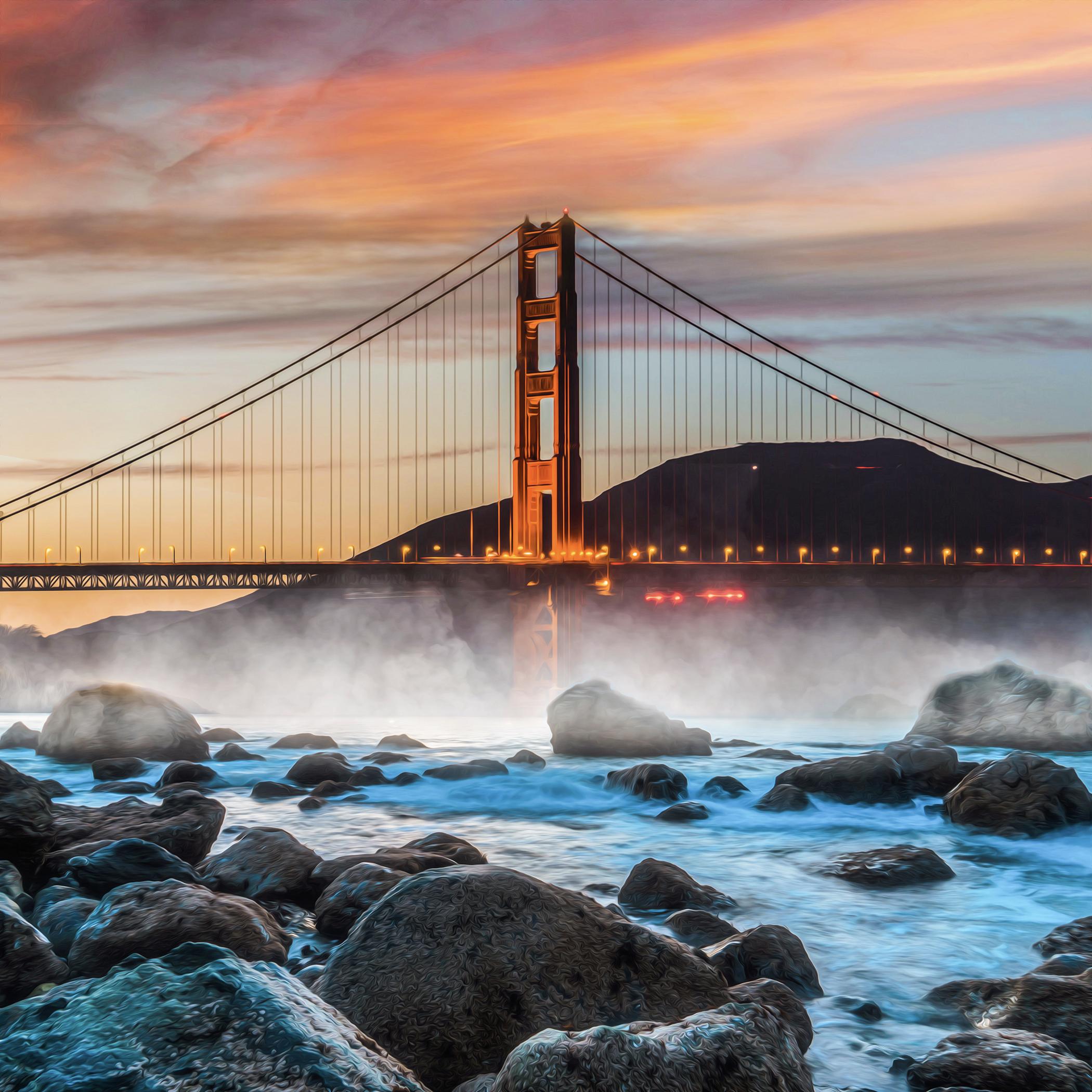 Goldie, February 2020. Photo of the San Francisco Golden Gate Bridge.