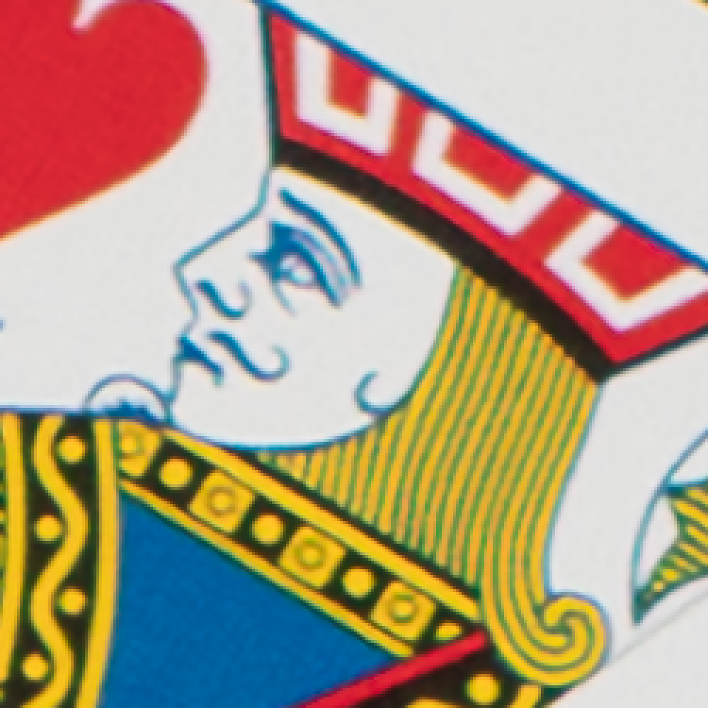 Close up image of a playing card of a jack that has high resolution.